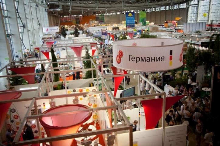 Deutscher Gemeinschaftsstand auf der Flowers IPM Moskau 2011